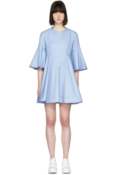 Carven - Blue Flare Sleeves Dress