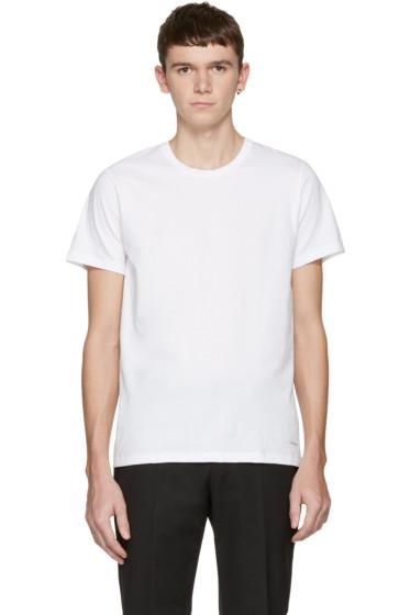 Calvin Klein Underwear - ホワイト クラシックフィット T シャツ 3 枚セット
