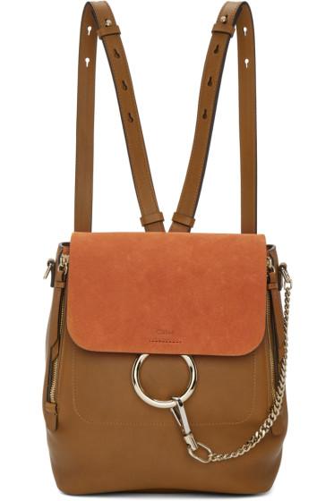Chloé - Tan Medium Faye Backpack