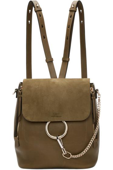 Chloé - Khaki Medium Faye Backpack