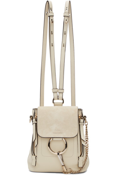 Chloé - Off-White Mini Faye Backpack