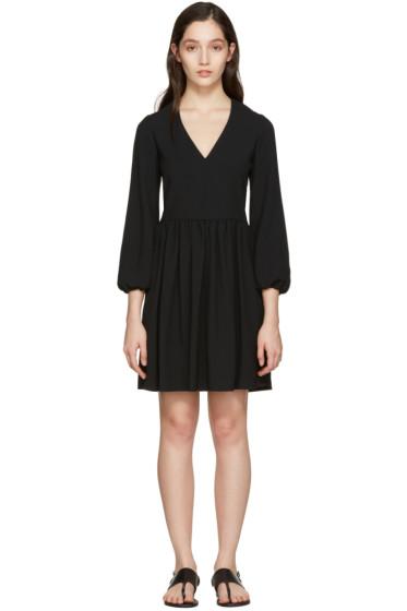 Chloé - Black Deep-V Dress