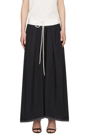 Chloé - Navy Drawstring Skirt