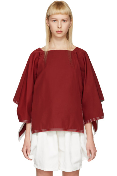Chloé - Red Boatneck Blouse