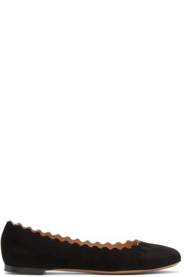 Chloé - Black Suede Lauren Ballerina Flats