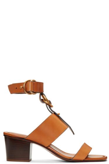 Chloé - Tan Kingsley Sandals