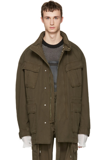 Juun.J - Khaki Oversized Field Coat