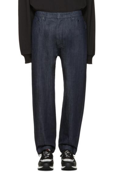 Juun.J - Navy Loose-Fit Jeans