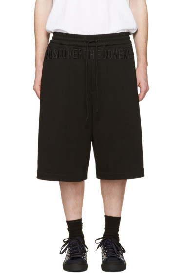 Juun.J - Black 'Discover The Covered' Lounge Shorts