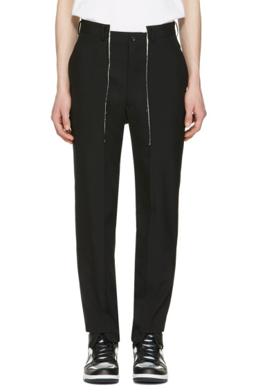 Comme des Garçons Homme Plus - Black Wool Panelled Trousers
