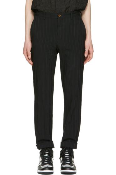 Comme des Garçons Homme Plus - Black Striped Trousers