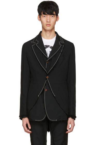 Comme des Garçons Homme Plus - Black Double Blazer