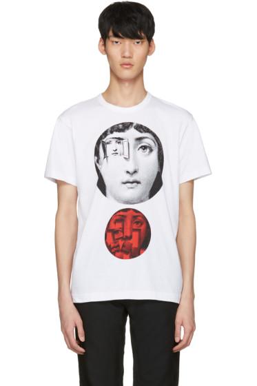 Comme des Garçons Homme Plus - White Face Print T-Shirt