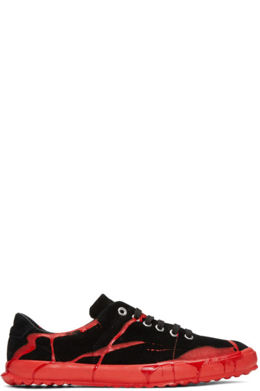 Comme des Garçons Homme Plus - Black & Red Painted Novesta Sneakers