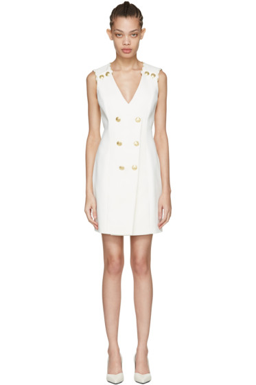 Pierre Balmain - Off-White Sleeveless Short Dress