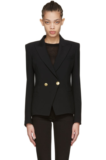 Pierre Balmain - Black Classic One-Button Blazer