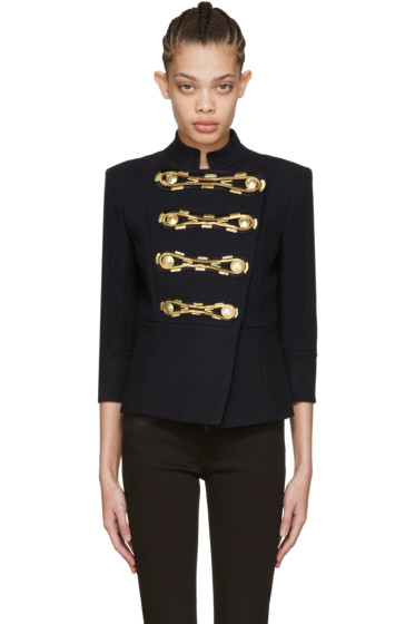 Pierre Balmain - Navy Double-Breasted Blazer