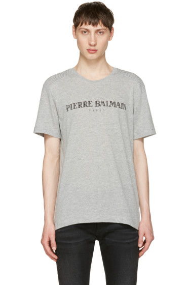 Pierre Balmain - Grey Logo T-Shirt