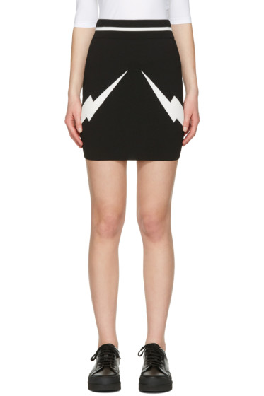 Neil Barrett - Black Thunderbolt Skirt