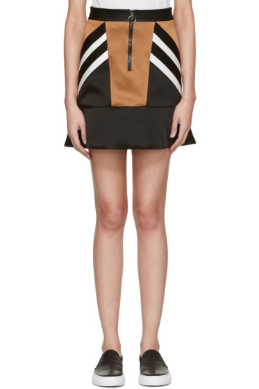 Neil Barrett - Black Retro Modernist Peplum Miniskirt