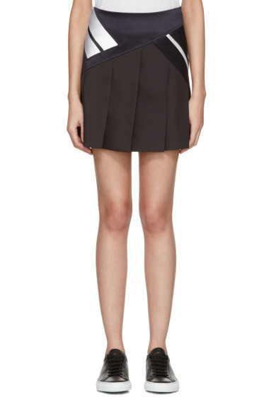 Neil Barrett - Black Modernist Miniskirt
