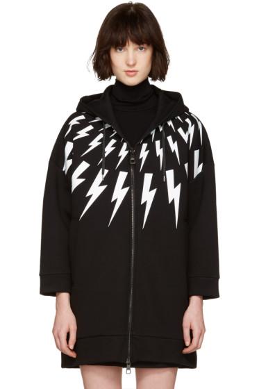 Neil Barrett - Black Oversized Thunderbolt Fairisle Dress