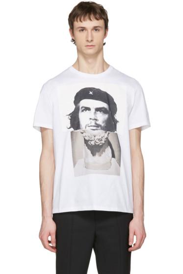 Neil Barrett - White Hybrid Marble Guevara T-Shirt