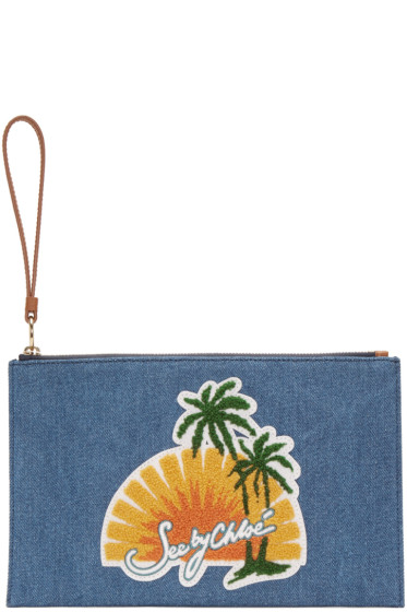 See by Chloé - Blue Denim Pouch