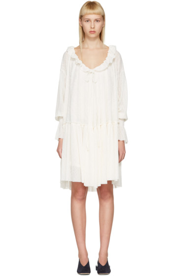 See by Chloé - Off-White Gauze Jersey Dress