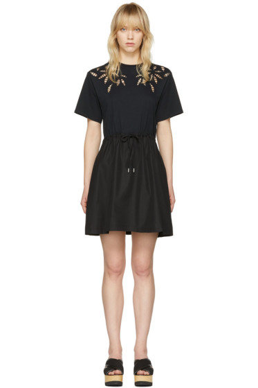 See by Chloé - Black Drawstring T-Shirt Dress