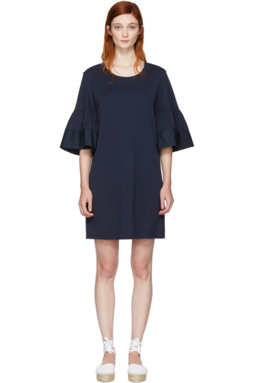 See by Chloé - Navy Flared Sleeve Dress