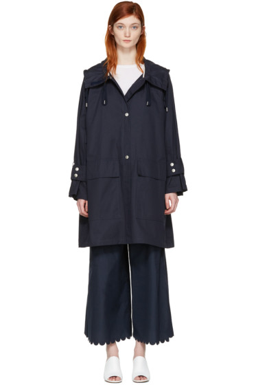 See by Chloé - Navy Gabardine Coat