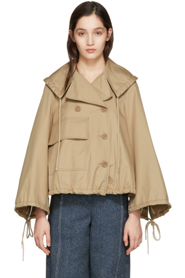 See by Chloé - Beige Oversized Pocket Jacket