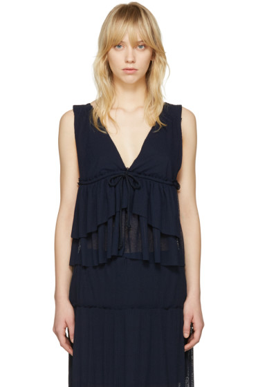 See by Chloé - Navy V-Neck Tank Top