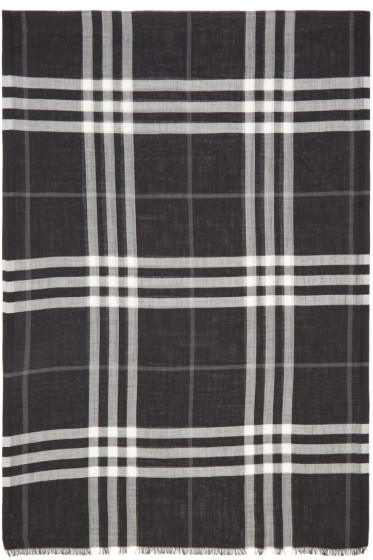 Burberry - Black Giant Check Scarf