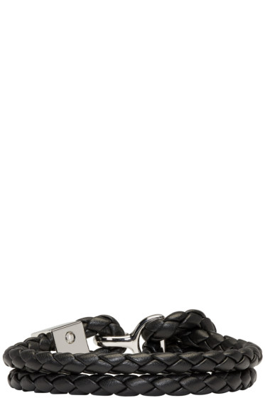Burberry - Black Braided Bracelet