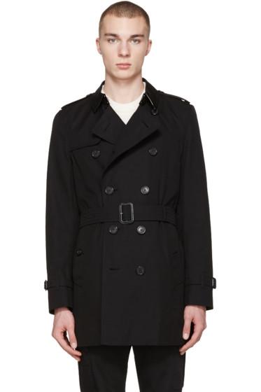 Burberry - Black Mid-Length Kensington Trench Coat