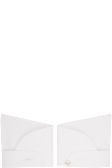 Ann Demeulemeester - White Button Cuffs