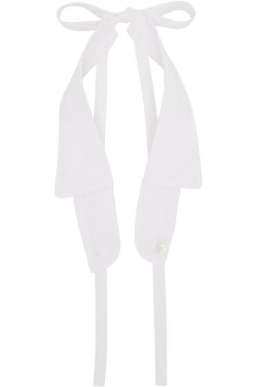 Ann Demeulemeester - White Spread Collar