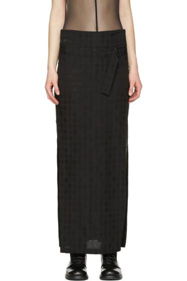 Ann Demeulemeester - Black Belted Jacquard Skirt