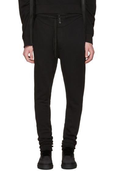 Ann Demeulemeester - Black Buttoned Lounge Pants