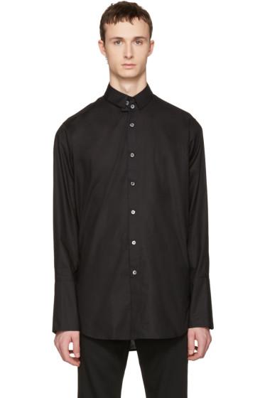 Ann Demeulemeester - Black Two Button Shirt