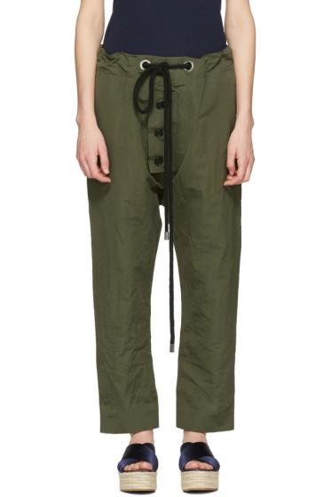 Marni - Green Linen Drawstring Trousers