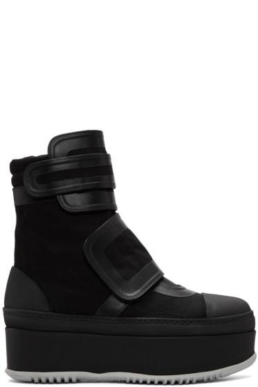 Marni - Black Velcro Platform Boots
