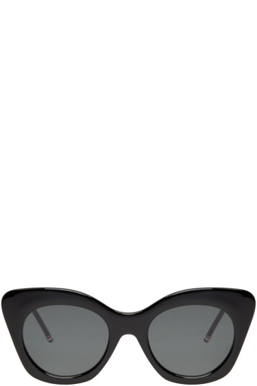 Thom Browne - Black Cat-Eye Sunglasses