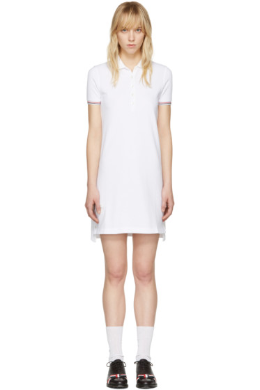 Thom Browne - White A-Line Polo Dress