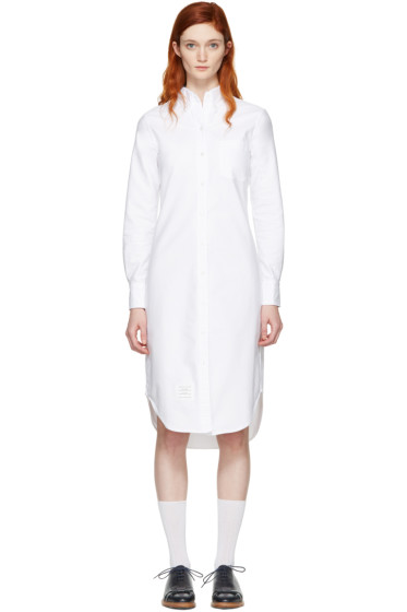 Thom Browne - White Classic Shirt Dress