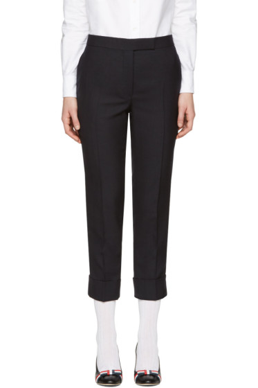 Thom Browne - Navy Classic Backstrap Trousers