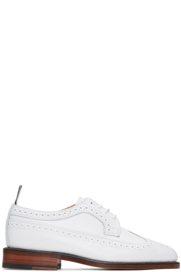 Thom Browne - White Classic Longwing Brogues