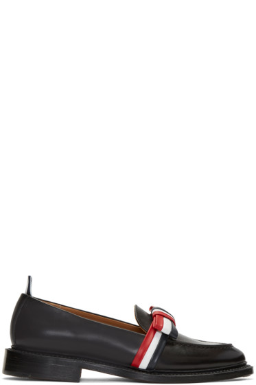 Thom Browne - Black Bow Loafers